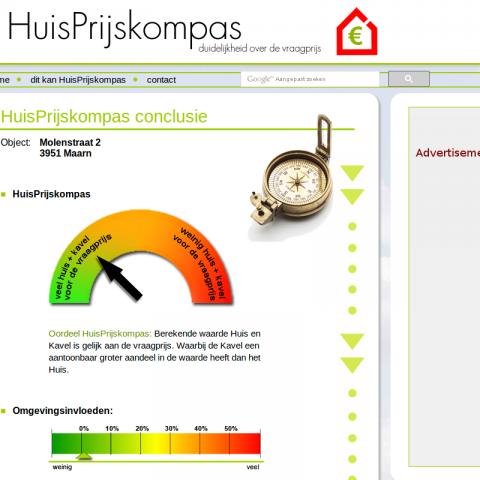 HuisPrijskompas Screenshot